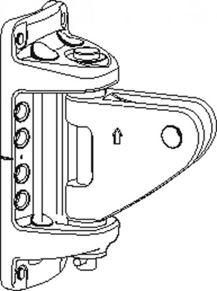 Mastbeschlag 174 x 71mm für Rodkick 30