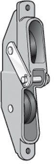 Triple-Kombi-Vorstagbeschlag ALU für ø4-5mm Draht