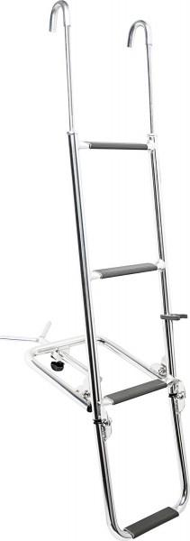 Bugleiter zum Einhängen, L=1240mm, B=250-300mm,L=470mm, Stütze =350-1000mm,4 Stufen, Aluminium