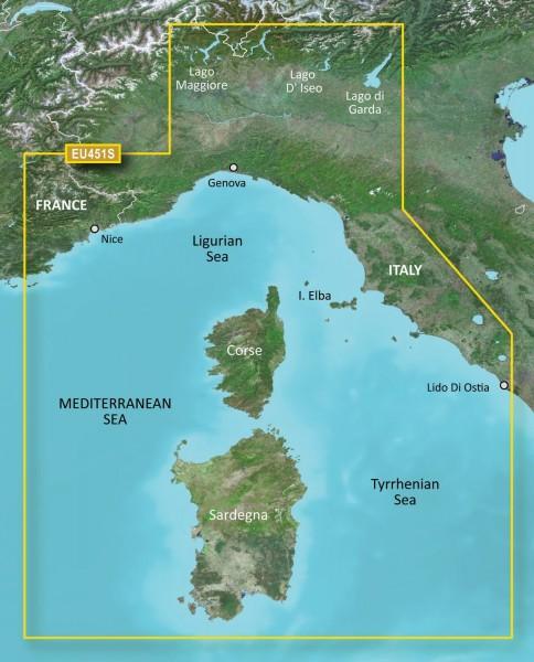 Garmin G3 Vision VEU451S - Ligurian Sea, Corsica and Sardinia