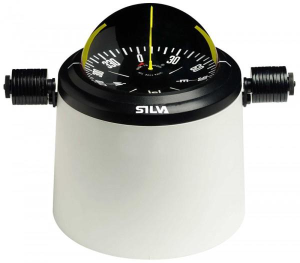 Silva Kompass 125T-S Pacific Schwarz mit Säule für Stahlboote