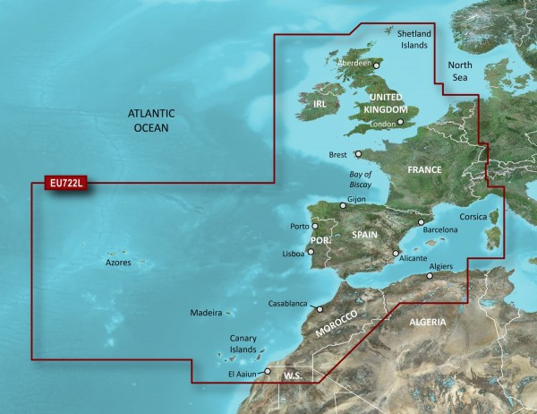 Garmin G3 Vision VEU722L - Europe Atlantic Coast
