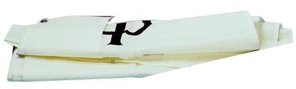 Opti-Segel mit Zeichen, Latten und Segelsack