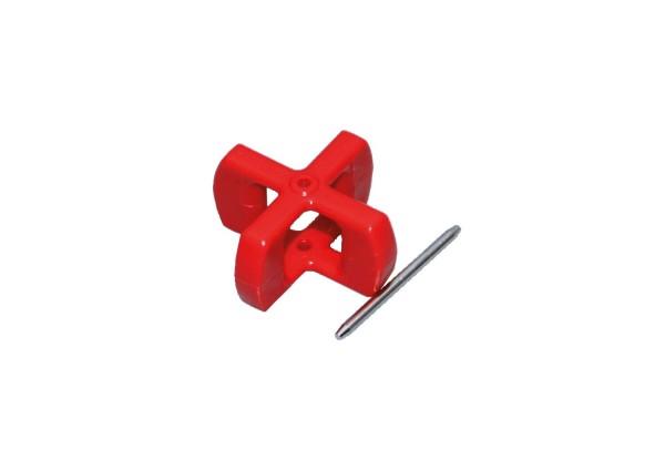 Nexus Paddelrad Rot mit Achse bis 30 Knoten