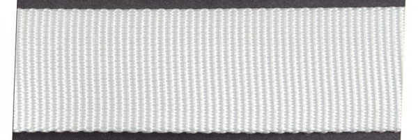 Gurtband Polyester weiß