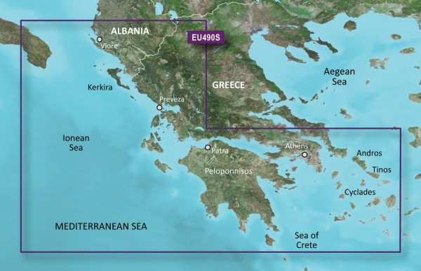 Garmin G3 Vision VEU490S - Greece West Coast and Athens