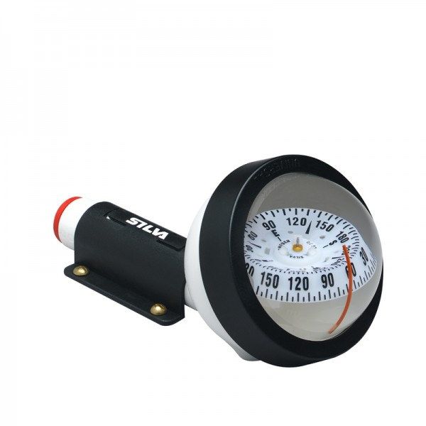 Silva Handpeil-Kompass 70UNE Weiß mit Beleuchtung und Halterung