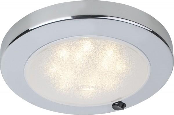 Deckenleuchte Saturn mit Schalter, LED, 12V, 3,5W, 210lm, IP21, Chrom