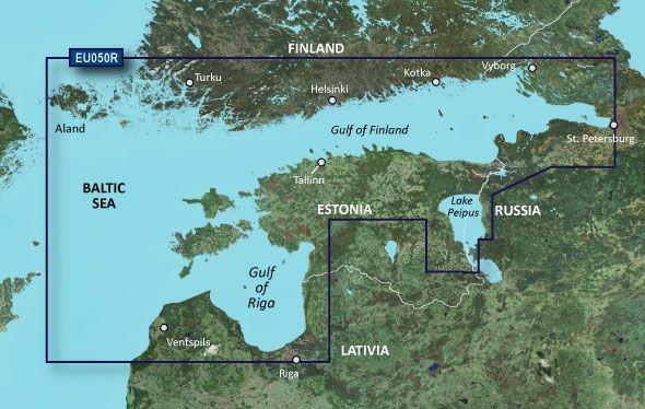 Garmin Bluechart EU050R Gulfs of Finland & Riga