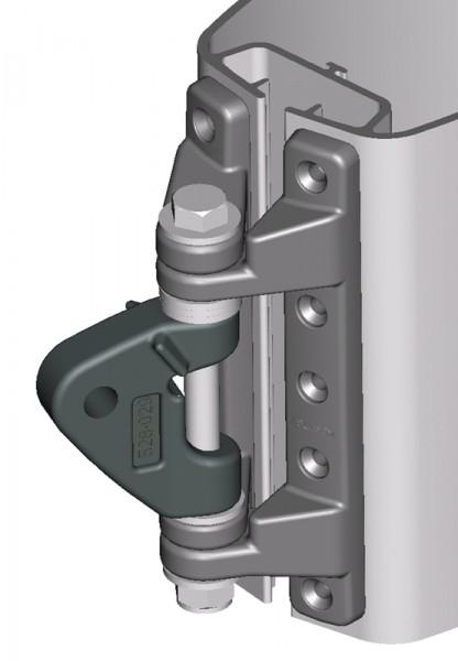 Mastbeschlag 185 x 55-80mm für Rodkicker 10 und 20 inkl. Schrauben