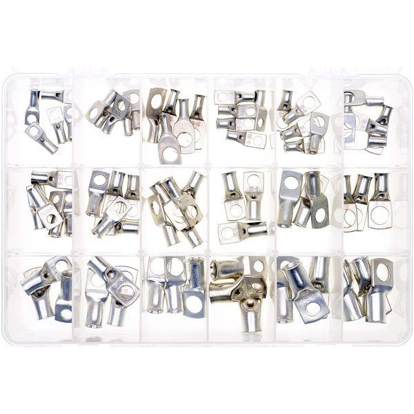 Ring-Kabelschuhsortiment 72 Stück für 10-70mm²-Kabel