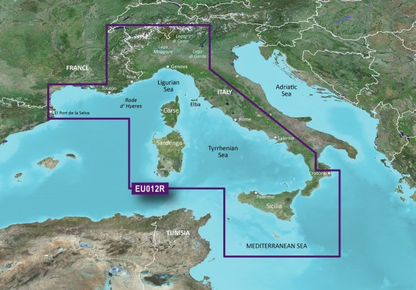 Garmin G3 HXEU012R - Mediterranean Sea, Central-West