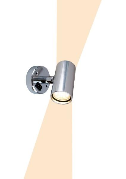 Leseleuchte Tube D2 mit Schalter, LED, 12V, 1,2W, 2x60lm, IP21, Aluminium