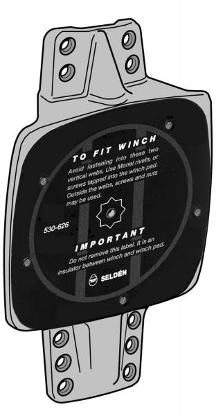 Mastplatte 145 x 100mm 5° für 2 Fallenstopper