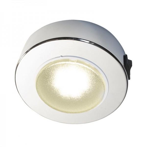 Deckenleuchte Sun mit Schalter, LED, 8-30V, 2W, 150lm, IP21, Chrom