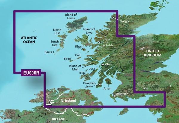 Garmin Bluechart EU006R Scotland, West Coast