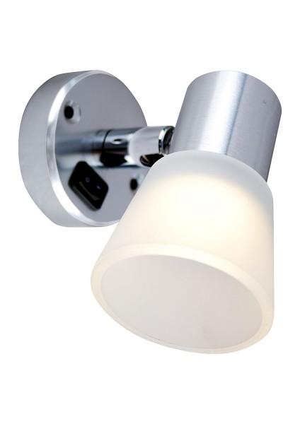 Leseleuchte Tube D3 mit Schalter, LED, 12V, 0,6W, 60lm, IP21, Aluminium