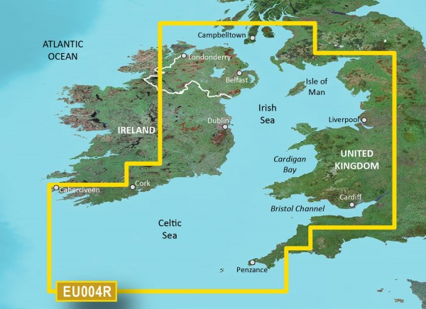 Garmin Bluechart EU004R Irish Sea