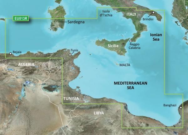 Garmin Bluechart EU013R Italy Southwest & Tunisia