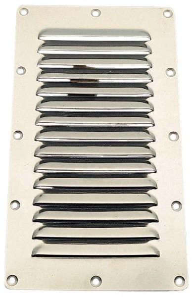 Luefterblech rostfrei 228x127mm