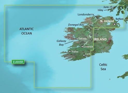 Garmin Bluechart EU005R Ireland, West Coast