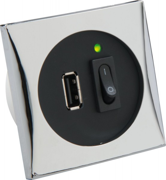 USB-Steckdose mit Schalter