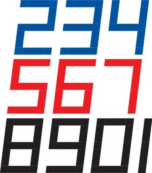 Digitale Segelnummer 450mm -bitte Farbe angeben-