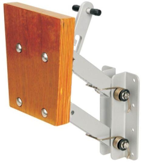 Aussenborderhalterung Aluminium/Holz. einstellbar