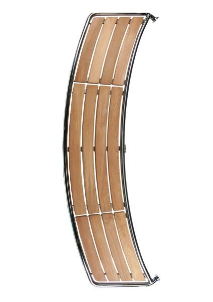 Heckplattform für Motorboot Teak, B=2000mm, H=700mm, Rohr D=32mm