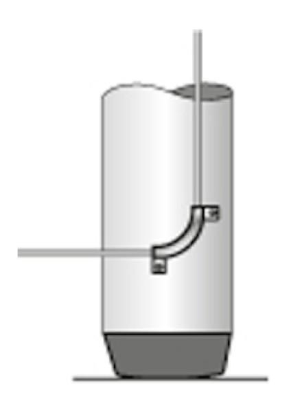 Kutterstag-Umlenkung für den Mast