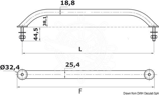 Handlauf Edelstahl 407mm