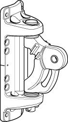 Mastbeschlag 242 x 81mm für Rodkick 30 / C-Mastprofil